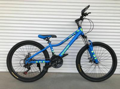 Велосипед 26, 900 SHIMANO, сталь, рама 14, амортизатор, синій
