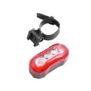Задня фара СТОП для велосипеда 189, 4 діода, 7 режимів, батар.