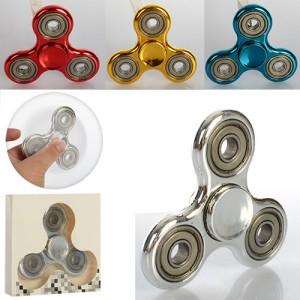 Спиннер MK 1548 (50шт) 7см, однотонный, 4подшип, пластик, металлик, микс цветов,в кор-ке,9-9-1см
