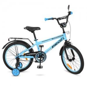 Велосипед детский PROF1 18д. T1874 (1шт) Forward,голубой,звонок,доп.колеса