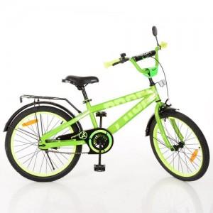 Велосипед детский PROF1 20д. T20173 (1шт) Flash,салатовый,звонок,подножка