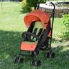 Коляска детская M 3419-7 PICNIC (1шт) прогулочная,трость,4колеса,глуб.капюш,5-ти точ.рем,оранж+желт
