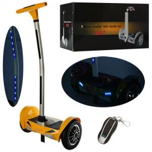 Сигвей A7-10-6 (1шт) 2мотор250W,аккум36V/4,4AH,до15км/ч,до120кг,колеса10д,Bluetooth, желтый,