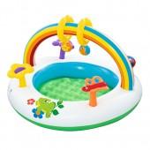 BW Бассейн 52239 (8шт) детский,91-56см,арка,игрушки,ремкомплект,в кор-ке,