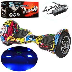 Смартвей W2-10-1 (1шт) 2мотор350W,аккум36V4,4AH,колеса10дюймов,Bluetooth,свет,нагр.до100кг,цветной