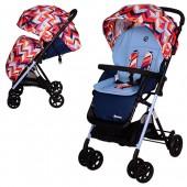 Коляска детская AMORE M 3405-12-2 (1шт) прогулочн,колеса4шт,корзина,спарен.тормоз,чехол,цветн-голуб