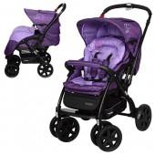 Коляска детская G328-9 (1шт) алюмин.рама,перекидн.ручка, колеса4шт, чехол на ножки, фиолет