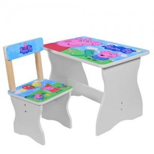 Столик 504-13 (1шт) столеш60-40см/выс.до стол44см,стульчик д28-ш28-в53,5см/высот.до сид.27см,PP