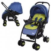 Коляска детская GOLF M 3429L-3 (1шт) прогулочн,книжка,колеса4шт,синий