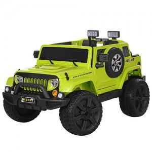 Джип M 3445 EBLR-5 (1шт) р/у(2,4G),2мотора35W,аккум12V7AH,колесаEVA,отк.дв,кож.cид,MP3,USB,зелен
