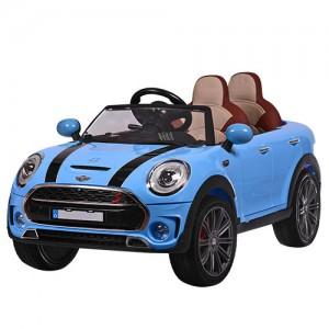 Машина M 3595EBLR-4 (1шт) р/у2,4G,2мотора35W,аккум12V10A,колесоEVA,кож.сид,2-х мест,син.