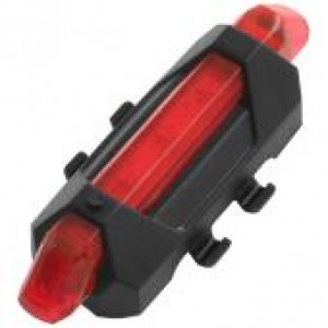 Задня фара СТОП в захисті 918, USB, акумулятор Li-ion, червоний