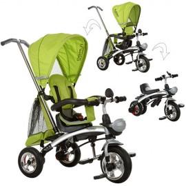 Велосипед M 3212A-3 (1шт)три кол.резина,трансформер(беговел),поворот,быстросъем.колеса,зеленый
