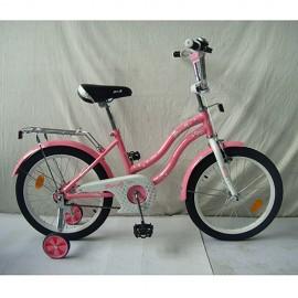 Велосипед детский PROF1 18д. L1891 (1шт) Star, розовый, звонок,доп.колеса