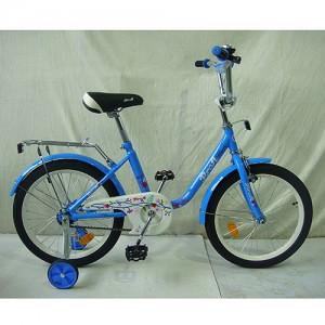 Велосипед детский PROF1 18д. L1884 (1шт) Flower, голубой,звонок,доп.колеса