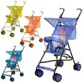 Коляска детская B-1 (4шт) прогул,трость,колеса8шт,ремень-переноска,микс(оранж,зелен,голуб,фиол),