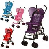 Коляска детская B-5 (4шт) прогул,трость,колеса8шт,регулир.спинка,микс(красн, голуб,фиол, розов),